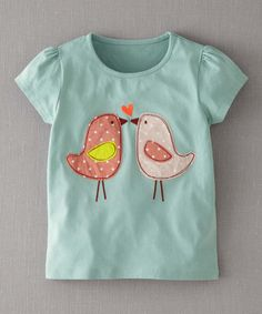 Take a look at this Quail Egg Lovebirds Tee - Infant, Toddler & Girls by Mini Boden on #zulily today!