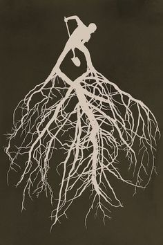 I like the idea of having the roots coming out of an object (brainstorm other objects) other than just text becoming one with nature Canvas Wall Art, Canvas Prints, Art Prints, Roots Drawing, Roots Logo, One With Nature, Tree Roots, Brainstorm, Art Plastique