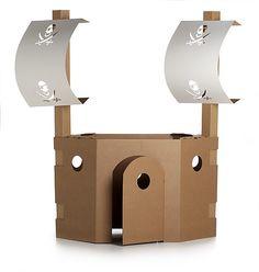 cardboard pirate ship   use for  DIY inspiration