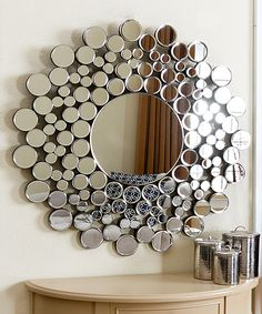 Look at this #zulilyfind! Buchon Round Bubble Wall Mirror by Abbyson Living #zulilyfinds