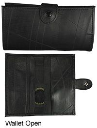 Recycled Tire Tube Wallet at The Rainforest Site