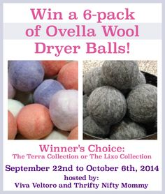 5 Reasons to Replace Your Dryer Sheets with Wool Dryer Balls! {Plus, a review and giveaway from Ovella} - Viva Veltoro
