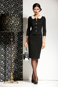 Skirt Suits for women Professional Wardrobe, Professional Dresses, Business Dresses, Nice Dresses, Amazing Dresses, Work Attire, Modest Fashion, Timeless Fashion, Beautiful Outfits