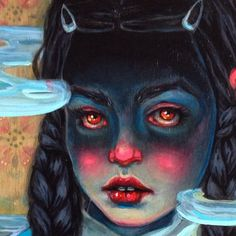 """Lori Nelson #wip """"Char"""" alllllmost done for @coreyhelfordgallery #artcollectorstarterkit show in July. That #tween face: defiance, but hesitation...so specific and elusive."""