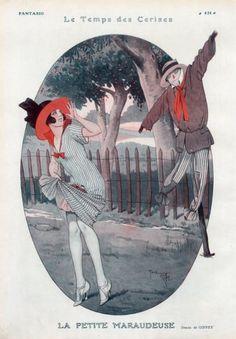 René Giffey (1884 – 1965). La petite maraudeuse. Fantasio, 1925. [Pinned 11-vii-2015]