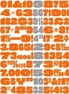 Eames Poster Numerals | House Industries
