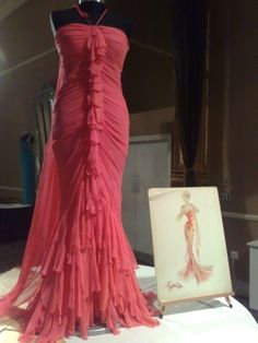 "Pink gown by Travilla for Marilyn in ""Gentlemen Prefer Blondes"" and also her personal use."