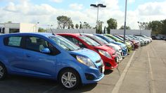 Chevy Spark ! Finally makes its debut in the US Denim Blue Salsa Red Jalapeno Green Techno Pink GM Awesome Great Price