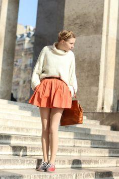 #MarieMyrhøj #MarieMyrhoj #skirt #jumper #Nemesis #Nemesisbabe #look #fashionblogger  #street #fashion #look #mode #moda #women #streetstyle #Paris #streetview #street #style #offcatwalk on #sophiemhabille