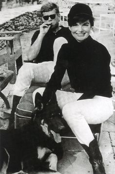 John and Jackie Kennedy relaxing for the weekend in Virginia