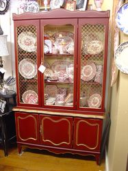 antique painted dining room hutch #antiquefurniture #paintedfurniture http://www.camillesantiqueboutique.com/antiques.html