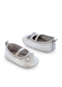Carters  Silver Glitter Mary Jane Shoes