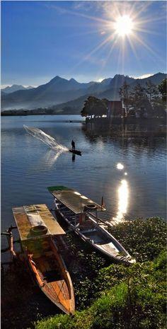 Morning at Lake Selorejo  Java Indonesia - by DiBe