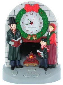 Amazon.com: Singing Snowman Christmas Clock: Home & Kitchen ...
