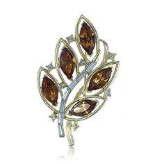 1950s Vintage Kramer swarovski crystal brooch