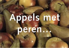 Paul M. Baars (1949). Postcards series Vegetables and Fruits (Groente & Fruit), 2000. 'Apples with Pears ...' (dissimilarity between.) About 33 postcards. Concept by Paul M. Baars. Photographed by Gerry Hurkmans. Publisher Art Unlimited.
