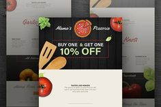 Pizza Delivery Email Template PSD @creativework247