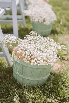 babys breath wedding ideas - photo by Hot Metal Studio http://ruffledblog.com/best-of-2014-ceremonies