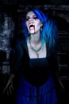 Vampire Nichelle-Ravenous by Vampire Love, Gothic Vampire, Vampire Queen, Vampire Girls, Vampire Art, Hot Goth Girls, Gothic Girls, Werewolf Hunter, Vampires