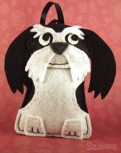 Felt Dog Ornament Felt Christmas Ornament  Alvin the by Squshies, $20.00