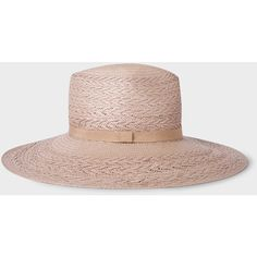 Paul Smith Women's Violet Straw Panama Hat (270 CAD) ❤ liked on Polyvore featuring accessories, hats, band hats, panama straw hat, paul smith hat, straw hat and paul smith