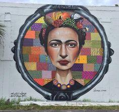 "Sipros, ""FRIDA""  for Mana Urban Arts Project in Wynwood, Miami, Florida, USA, 2015"