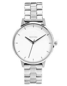 €170, Reloj Plateado de Nixon. De Asos. Detalles: https://lookastic.com/women/shop_items/37630/redirect