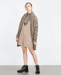 CORDUROY PINAFORE DRESS-Jumpsuits-WOMAN   ZARA United States