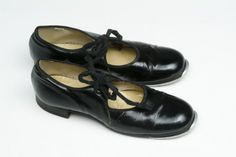 1940's Black Tap Shoes  Little Girl's Mary Janes by fallaloft, $18.00