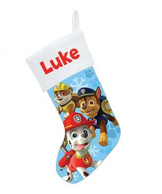 Love this PAW Patrol Puptacular Personalized Christmas Stocking on #zulily! #zulilyfinds