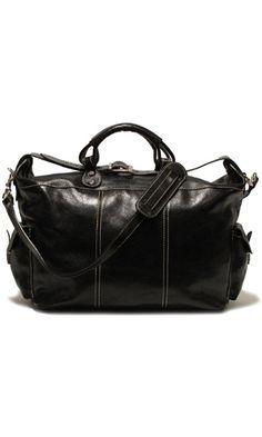 Floto Luggage Venezia Travel Tote, Black, Large Best Price