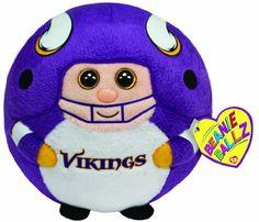 Amazon.com  Ty Beanie Ballz Minnesota Vikings - NFL Ballz  Toys  amp  9c74045a1