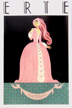 ERTE La Traviata Mirage Editions 1982 Art Deco Reflective Poster Art Deco Artwork, Erte Art, Romain De Tirtoff, Fashion 1920s, Inspiration Art, 23 November, Moda Vintage, Art Deco Design, French Artists