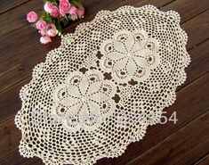Aliexpress.com : Buy COLOR OPTIONS oval crocheted doilies wholesale price placemats for weddings FREE SHIPPING!!! from Reliable placemat for round table suppliers on Handmade Shop