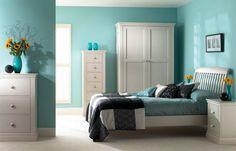 neutrale farben möbel tapeten grau streifen bilder | schlafzimmer ... - Farbe Fürs Schlafzimmer