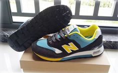 Discount New Balance M577GBL Seaside Navy Blue Yellow Mens NB-577 Sneakers For Males/Boys