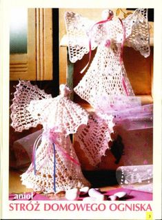 My handmade Angels crochet Crochet Christmas Decorations, Holiday Crochet, Handmade Angels, Crochet Angels, Christmas Books, Crochet Doilies, Crochet Projects, Free Pattern, Picasa