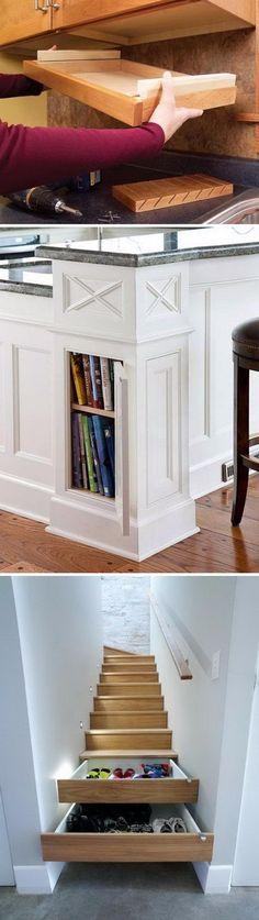 Clever Hidden Storage Ideas.