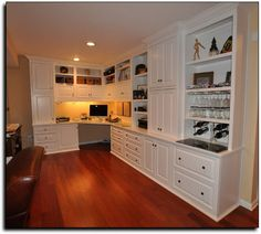 Finest Office Built In Cabinets – Page 36 of 66 – Home Office Design Corner Office Built Ins, Built In Desk, Built In Cabinets, Wall Cabinets, Home Desk, Home Office Space, Home Office Desks, White Corner Desk, Home Office Cabinets
