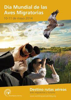 #Worldmigratorybirdday ¡Únase al Día Mundial de las Aves Migratorias 2014!  Destino Rutas Aéreas: Aves Migratorias y Turismo,10 de Mayo de 2014.