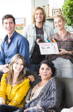They're back: Channel Ten drama Offspring started filming of its sixth season this week - cast members TJ Power, Kat Stewart, Richard Davies, Deborah Mailman and Asher Keddie pictured on set in Melbourne Offspring Tv Show, The Wrong Girl, Watch Tv Shows, Comedy Series, Girl Tips, Iconic Australia, New Trailers, On Set, Ladies Day