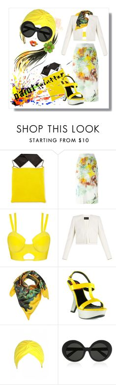"""""""Make a Splash With Paint Splatters"""" by kari-c ❤ liked on Polyvore featuring Marni, Vivienne Westwood Anglomania, BCBGMAXAZRIA, Dolce&Gabbana, Linda Farrow, Chanel and paintsplatter"""