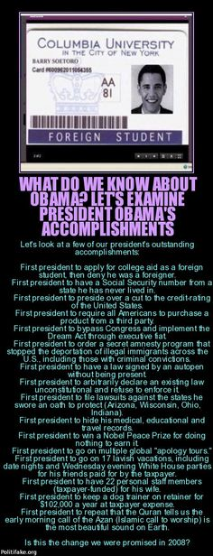 What we know about President Obama's accomplishments...