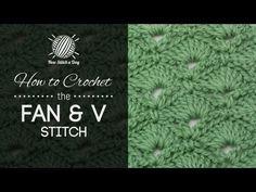 How to Crochet the Fan & V Stitch - NewStitchaDay.com