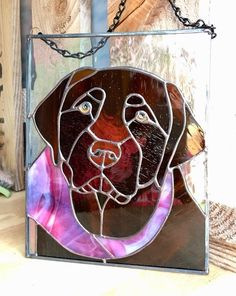 Items similar to Chocolate Lab Stained glass Pet Custom Portrait Customized Memorialized Sun Catcher Dog Cat Animal Panel on Etsy Making Stained Glass, Custom Stained Glass, Stained Glass Crafts, Stained Glass Panels, Labrador Puppies, Retriever Puppies, Corgi Puppies, Catcher, Mosaic Glass