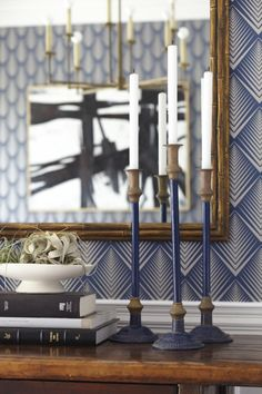 dining room wallpaper:: Emily Henderson:: swooning over the pattern of this paper!!