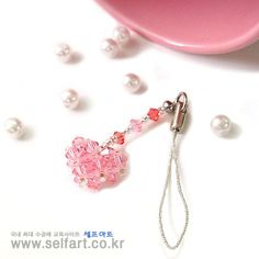 Handmade crafts beads Heart beads Accessories Cellphone Free Video Course Design (beads Materials - Swarovski): Naver blog