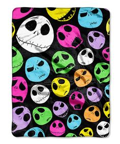 This Nightmare Before Christmas Glow Skulls Microfiber Throw by The Northwest Company is perfect! #zulilyfinds