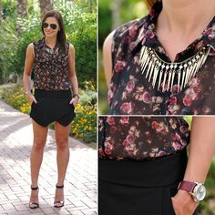 Ray Ban Sunnies, Camaieu Shirt, Zara Skirt, C&A Sandals, Parfois Watch
