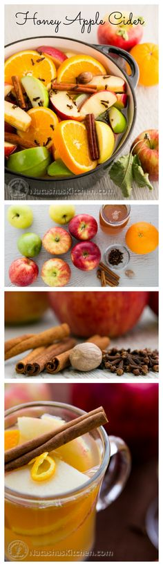Honey Apple Cider - This will make your home smell better than. Honey Apple Cider - This will make your home smell better than the most luscious Fall candle on the planet! Yummy Drinks, Healthy Drinks, Healthy Eating, Yummy Food, Healthy Recipes, Apple Recipes, Fall Recipes, Holiday Recipes, Smoothie Drinks